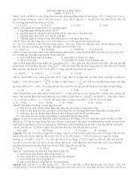 Đề thi thử đại học trường Trần Hưng Đạo, Vĩnh Phúc môn vật lý (có đáp án)