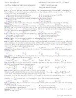 đề thi thử môn vật lí Chuyên Phan Bội Châu môn vật lý