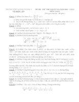 đề toán thi thử THPT QG năm 2015 đề số 176
