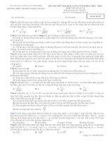 Đề thi thử Đại Học lần 2 năm 2014 THPT chuyên Lương Văn Tụy môn vật lý (8)