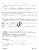 Đề thi thử vật lý THPT quốc gia môn vật lý