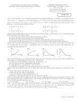 Đề Thi thử Chuyên Khoa Học Tự Nhiên Lần 5 năm 2014 môn vật lý (có đáp án)