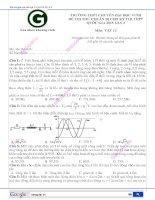đề thi thử lần 3 - 2015 - ĐH Vinh hay nhất môn vật lý