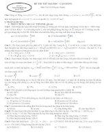 ĐỀ THI THỬ LẦN 3 môn vật lý