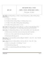 Đề kiểm tra 1 tiết môn Toán lớp 6 - Đề (105)