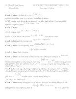 Đề tự luyện thi THPT Quốc gia môn toán số 6