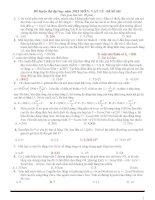 Đề thi thử THPT quốc gia môn vật lý (có đáp án) tham khảo (5)