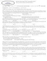 ĐỀ THI THỬ LẦN 4 môn vật lý