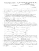 Đề thi thử Đại Học KHTN Hà Nội Lần 2 năm 2014 môn vật lý