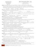 Đề thi thử vật lý 248 (lần 8 có đáp án)