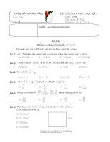 ĐỀ KIỂM TRA GIỮA HỌC KỲ I lớp 5 môn toán