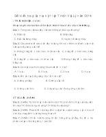 đề kiểm tra giữa học kỳ 1 lớp 7 môn Vật Lý năm 2014