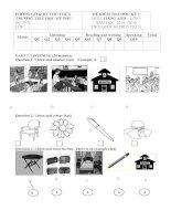Đề kiểm tra học kì 1 môn tiếng anh lớp 3 trường tiểu học Mỹ Phú
