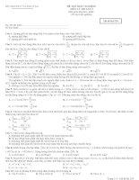 Đề và đáp án thi thử thpt quốc gia môn vật lý