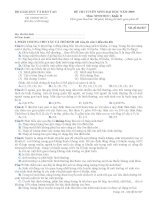 Đề sinh học 12 - sưu tầm giới thiệu đề kiểm tra, thi học sinh giỏi, thi thử đại học tham khảo (67)