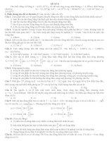 15 ĐỀ ÔN THI Tốt Ngiệp Trung Học Phổ Thông môn vật lý ĐỀ SỐ 8