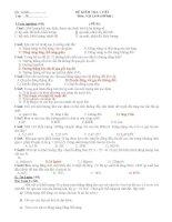Đề kiểm tra 1 tiết chương 4, 5 Vật lý 10 cơ bản