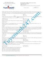 Đề thi thử lý năm 2015 - Có giải chi tiết kèm theo (59)