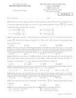 Đề thi thử THPT Quốc gia lần 1 có đáp án môn vật lý