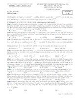 ĐỀ THI THỬ LẦN III NĂM 2014 CHUYÊN YÊN BÁI CÓ ĐÁP ÁN môn vật lý (5)