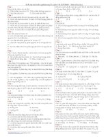 518 câu trắc nghiệm luyện thi đại học môn Hóa