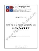 Tuyển tập 10 đề thi thử ĐH môn Vật lý năm 2014 (Có đáp án)_TT LT KHTN Buôn Ma Thuột