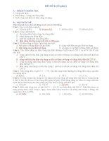 Đề thi trắc nghiệm và tự luận môn vật lý 9 đề số 2