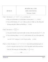 Đề kiểm tra 1 tiết môn Toán lớp 12 - Đề (15)