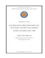 Giải pháp quản trị nguồn nhân lực ngân hàng TMCP Á Châu giai đoạn 2012 - 2020