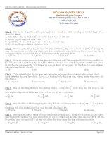 Đề thi - đáp án thi thử THPT Quốc Gia môn Vật Lý - Diễn Đàn Thư Viện Vật Lý
