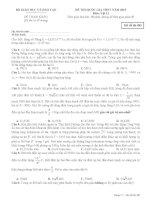 Đề thi thử vật lí 2015 hay và khó (có đáp án) môn vật lý