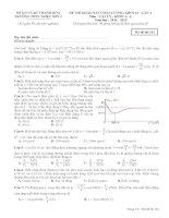 ĐỀ THI THỬ QUỐC GIA CÓ LỜI GIẢI THPT TRIỆU SƠN 2-LẦN 4 môn vật lý