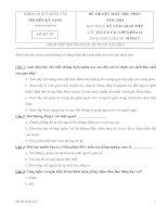 Đề thi kĩ năng giao tiếp năm 2014(có đáp án)