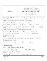 Đề kiểm tra 1 tiết môn Toán lớp 6 - Đề (64)