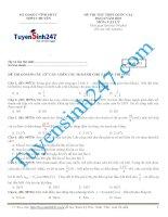 Đề thi thử lý năm 2015 - Có giải chi tiết kèm theo (42)