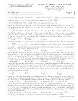 ĐỀ THI THỬ LẦN III NĂM 2014 CHUYÊN YÊN BÁI CÓ ĐÁP ÁN môn vật lý (6)
