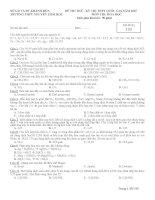Đề thi thử THPT Quốc gia môn Hóa học chọn lọc số 50
