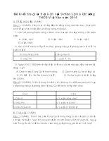 Đề kiểm tra giữa học kỳ 1 lớp 9 sử - THCS Việt Yên năm 2014