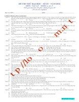 Đề luyện thi THPT Quốc gia môn Vật lý số 29