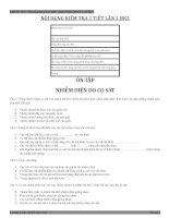 Đề kiểm tra 1 tiết Vật lý 7 học kì 2