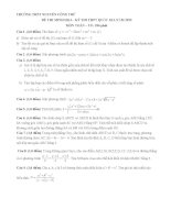 Đề luyện thi thử THPT quốc gia môn Toán số 11