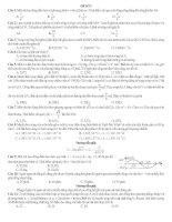 ĐỀ THI THỬ SỐ 2 CÓ LỜI GIẢI CHI TIẾT môn vật lý