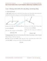 Bài toán khoảng cách trong hình học không gian - ThS. Phạm Hồng Phong