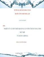 NGHIÊN CỨU CẢI TiẾN THIẾT BỊ CHƯNG CẤT NƯỚC SỬ DỤNG NĂNG LƯỢNG MẶT TRỜI CỦA HÃNG CAROCELL