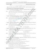 Tài liệu ôn thi THPT Quốc gia môn Toán Chuyên đề 8 Hình học phẳng Oxy