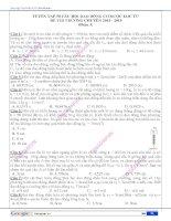 Tuyển tập 50 câu hỏi dao động cơ được lọc từ đề thi trường chuyên 2014 - 2015 (Phần 3)