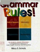 Grammar Rules! For Students, Parents & Teachers
