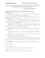 Chuyên đề Tìm số hạng tổng quát của dãy truy hồi tuyến tính cấp 2 để giải quyết một số bài toán về dãy số - Trường THPT chuyên Hưng Yên