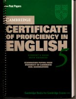 Cambridge Certificate of Proficiency in English 5
