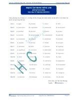 Luyện thi ĐH môn Tiếng Anh Trọng âm trong tiếng Anh (Bài tập tự luyện) - Vũ Thị Mai Phương